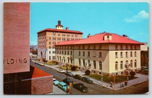 Albuquerque NM~Post Office From Simms Building~Station Wagon~Cars~1955