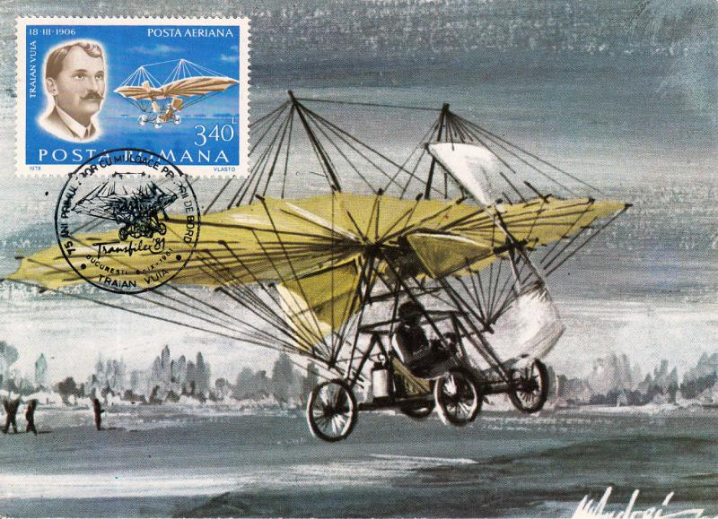 AVIATION TRAIAN VUIA 75 YEARS ANNIVERSARY FROM THE FIRST PLANE FLIGHT MAXI CARD