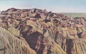 South Dakota Wall Lost Trail Barrier Badlands National Monument Albertype