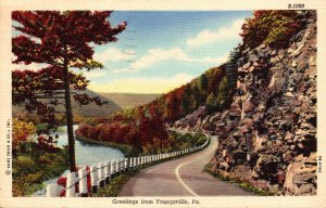 Pennsylvania Greetings From Youngsville 1948 Curteich