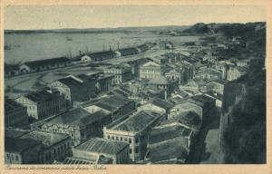 brazil, SALVADOR BAHIA, Commercio Cidade Baixa (1920s) Catilina Postcard