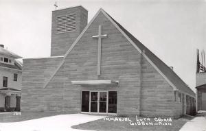 Gibbon Minnesota~A-Frame Immanuel Lutheran Church~Foursquare Home~RPPC c1950
