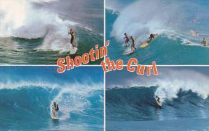 Surfing , California , 50-60s ; Shootin' the Curl