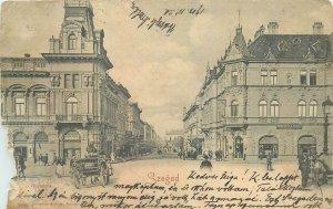 Postcard Hungary Szeged old city atmosphere vintage