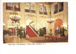 Great Hall, The Breakers, Ochre Point - Newport, Rhode Island, Interior,