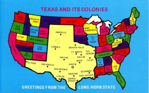 TX - Texas and its Colonies  (Humor)
