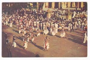 The Drummers, Kandy Perahera, Colombo I, Ceylon, Sri Lanka, Asia, 1950-70s