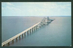 Sunshine Skyway Bridge St. Petersburg Florida Tampa Bay Water View Postcard