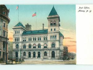 Unused Undivided HORSE & POST OFFICE Albany New York NY v2913