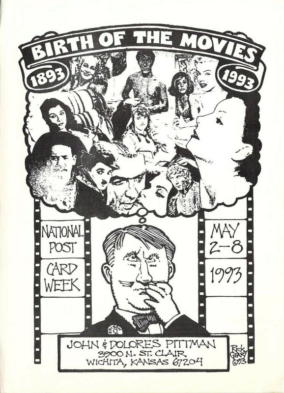 1993 Rick Geary Artist,  Birth of the Movies,  NPCW Signed Postcard