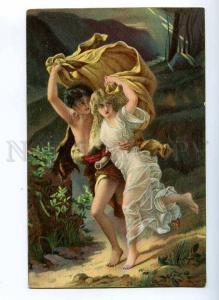 190071 Storm NUDE NYMPH Rain by COT Vintage Colorful PC