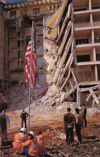 Destroyed U S Embassy Bombing 18 April 1983 Beirut Lebanon