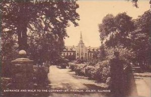 Illinois Joliet Entrance and Walk To The Convent St Francis Artvue