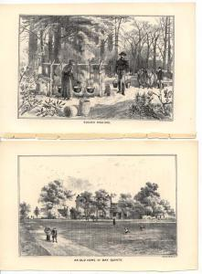 2 Prints of Engravings from 1885 Book Life in Canada