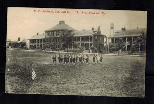 1916 US Army Soldiers Firing Drill Fort Thomas Kentucky Postcard Cover