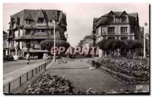 Old Postcard Deauville flowered beach Place Morny