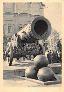 Moscow Russia The Kremlin Tsar Cannon Antique Postcard J48933