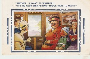 Mother! I want to whisper!... Bamforth Comic Series postcard # 3414