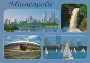 Minneapolis MN, Minnesota Multiview including Metrodome and Minnehaha Falls