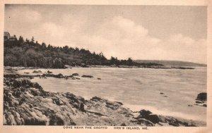 Orr's Island, Maine, ME, Cove near the Grotto, 1929 Vintage Postcard g8261