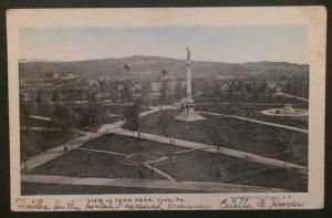Views of Penn Park York PA 1905 Illustrated Post Card Co 370 glitter
