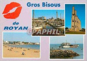 Modern Postcard Big Kisses Royan