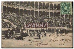 Old Postcard Bullfight Bullfight Bull Racing de toros