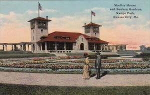 Missouri Kansas City Shelter House and Sunken Gardens In Swope Park