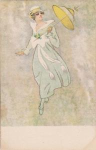 Woman with parasol, 00-10s