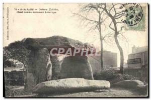 Old Postcard Dolmen Dolmen Standing Stone St Nazaire trilithon