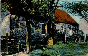 VINTAGE - The Old Farmhouse - POSTED - Postcard PC