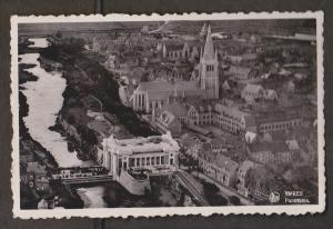 Aerial Panorama Of Ypres, Belgium - Real Photo - Used 1937