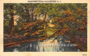 Greetings from Woodridge NY Postal used unknown