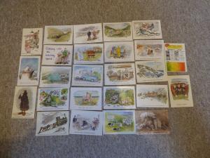 bu0068 25 Cartes postales par bande-dessinée artiste Rupert Besley Toutes montré