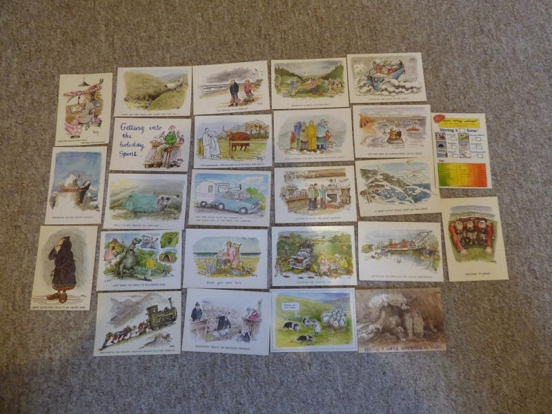 bu0068 - 25 Postcards by comic artist Rupert Besley - All Shown