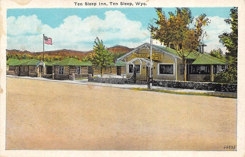 Ten Sleep Wyoming Inn Cabin Hotel Log Cabins 1920s