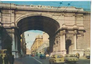 Italy, Genova, Genoa, Via XX Settembre, Ponte Monumentale, 1960s unused Postcard