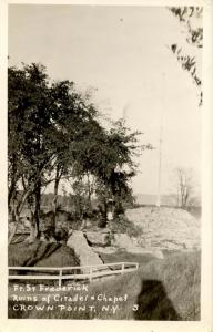NY - Crown Point. Fort St Frederick, Ruins of Citadel and Chapel.   *RPPC