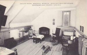 Virginia Westmoreland County Childs Room Memorial Mansion Washingtons Birthpl...