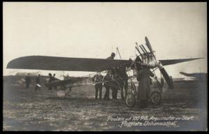 Germany Flugplatz Johannisthal Pioneer Poulain Flight Airplane  RPPC 64401