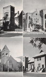 Visalia CA~Multi Mini View: Presbyterian Catholic Baptist Methodist Church~1949