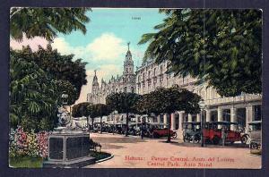 La Mia Liquors/Park Auto Stand Havana Cuba unused c1910's