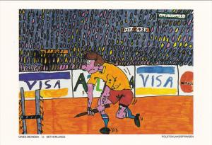 Olympic Games ; ATLANTA 1996 : New Olympic Sport Contest postcard : Polstokla...