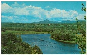Postcard - The Connecticut River, Between Bradford & Wells River, Vermont