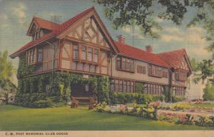 C.W. Post Memorial Club House, Battle Creek, Michigan 1936