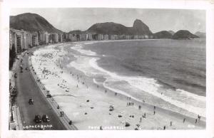 RIO DE JANEIRO BRAZIL~COPACABANA~LOCARELLI REAL PHOTO PANARAMA POSTCARD 1950s