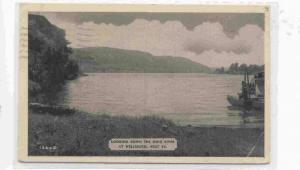Looking down the Ohio River at Wellsburg, West Virginia, PU-1955