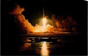 Postcard NASA John F. Kennedy Space Center Apollo 17 Lift Off 1972 Florida 1548