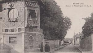 Mouy Rue De La Republique Antique French Postcard