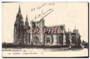 Old Postcard Thorn Notre Dame church